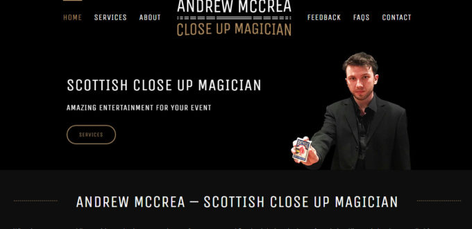 Site Launch: Andrew McCrea Magician
